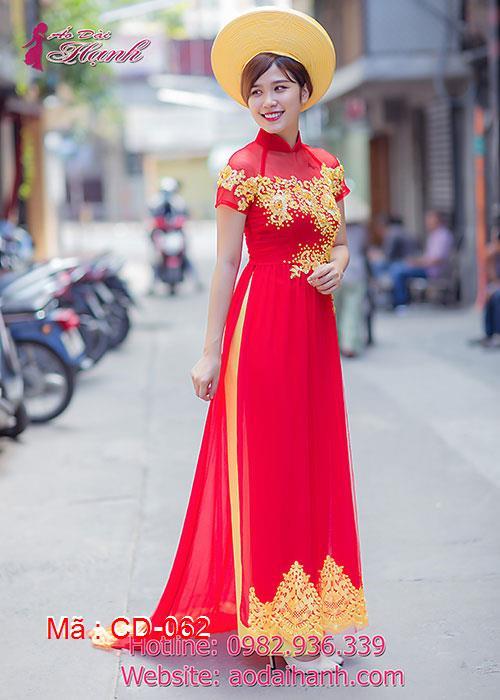 Áo dài cưới dành cho cô dâu mẫu số 62