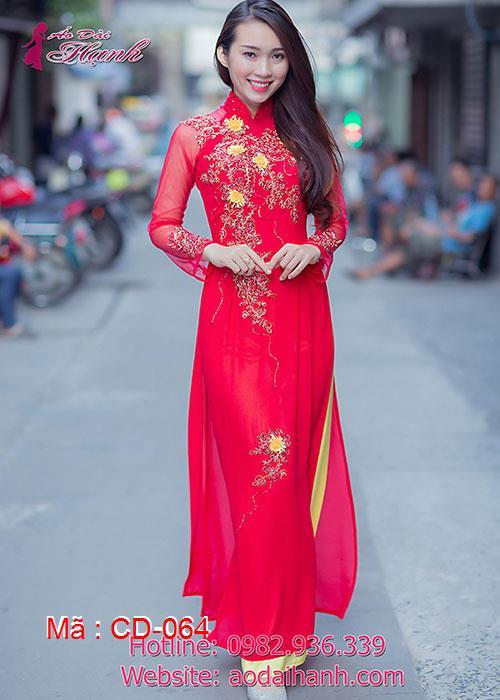 Áo dài cưới dành cho cô dâu mẫu số 64