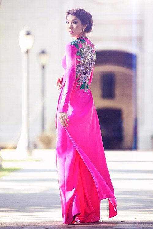 áo dài ngày cưới 2 tà