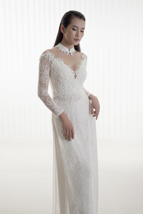 áo dài cho cô dâu 2018