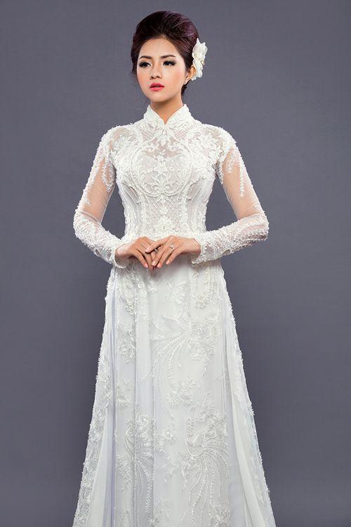 áo dài cưới abc