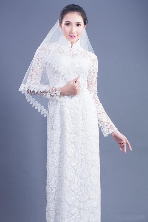 áo dài cách tân màu trắng