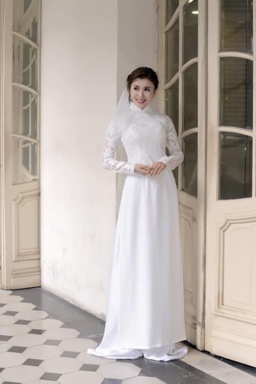 áo dài cưới đẹp 2018