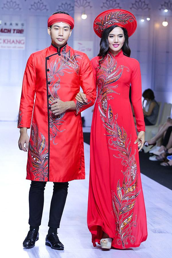 áo dài ngày cưới hiện đại