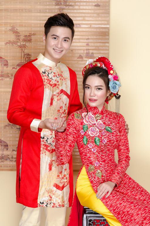 áo dài hỏi cưới hot 2018