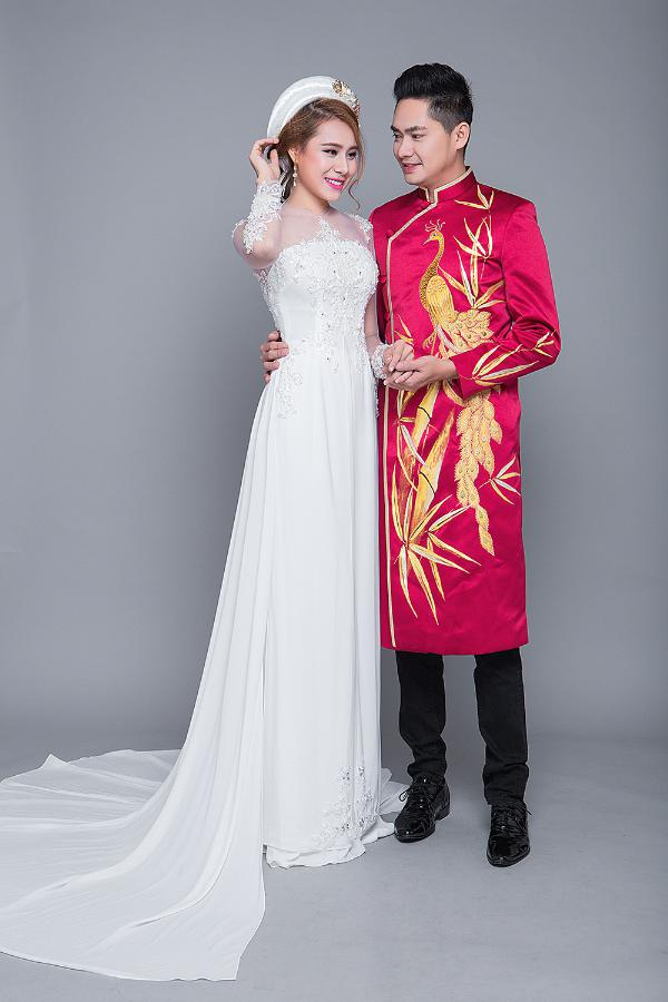 áo dài ngày cưới huế