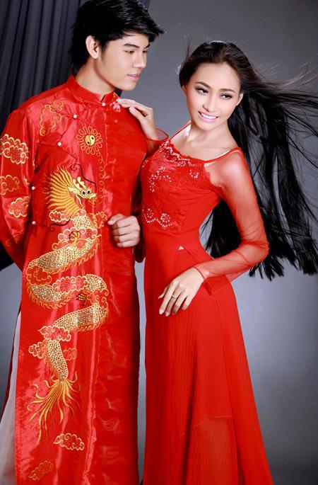 áo dài cho lễ cưới màu gì đẹp