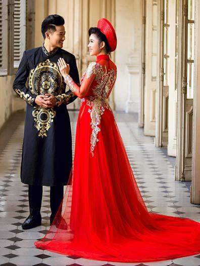 áo dài hỏi cưới màu gì
