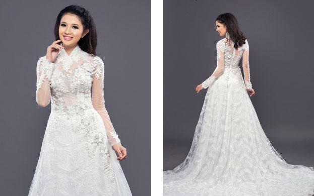 áo dài màu trắng 2018