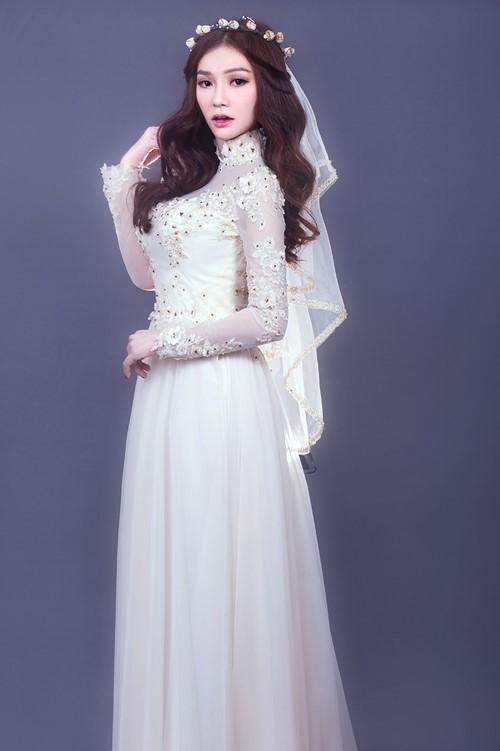 áo dài ren hoa