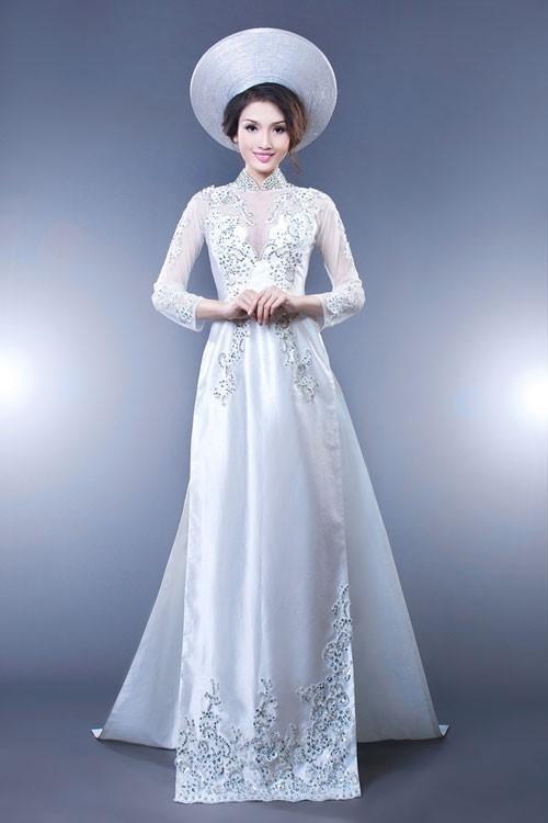 các mẫu áo dài lấp lánh đẹp