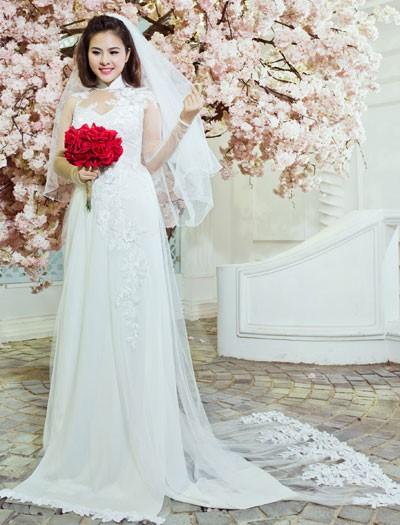 giá các mẫu vải may áo dài cho cô dâu đẹp