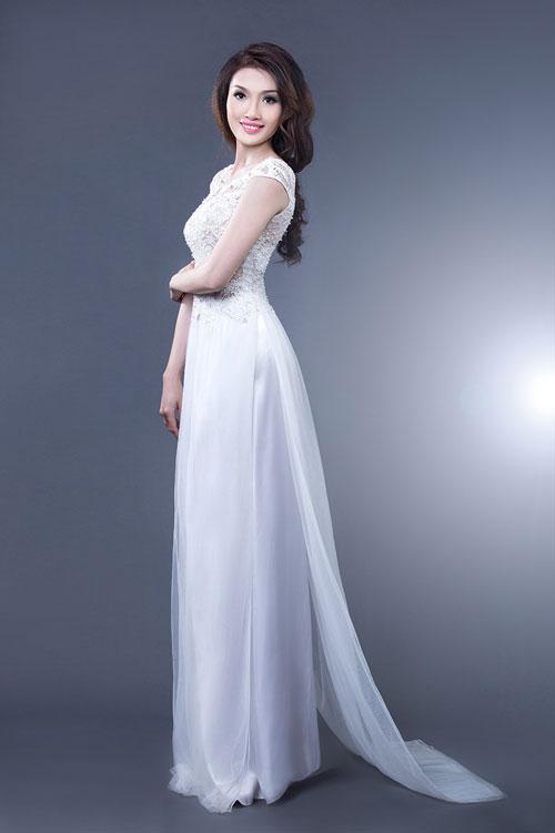 kiểu áo dài màu trắng