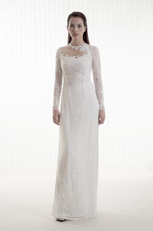 vải áo dài màu trắng ren