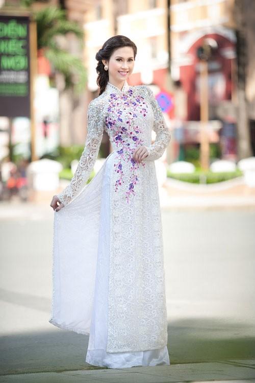 xu hướng áo dài đám cưới 2018