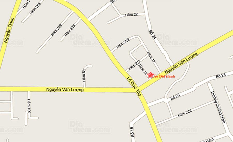 Bản đồ cửa hàng áo dài Hạnh Gò Vấp